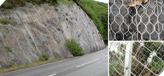 Rockfall Netting Used By Catch Wall Or Curtain Mesh The Rock